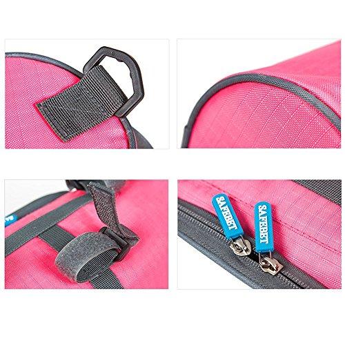 Fahrradlampe vor Top Rahmenrohr Lenkertasche Touchscreen-Telefon Frontseiten-Schlauch-Gepäckträger-Tasche Korb Black