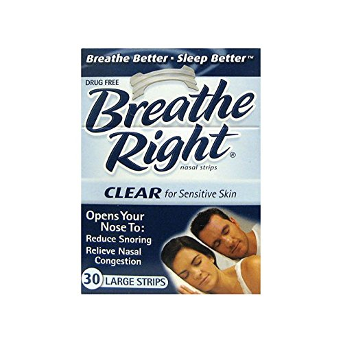Breathe Right Large Clear (3 pack) 90 Strips @ 33p each inc p & p