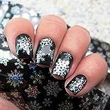 Christmas Snowflake pattern autoadesivo nail art sticker tip Decal manicure nail pellicola di trasferimento adesivo carta