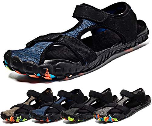 7289182b3 Sandalias de Verano Playa para Hombre Secado Rápido Sandalias Deportivas  Senderismo Trekking Punta Cerrada Casual Zapatos de Agua Al Aire Libre