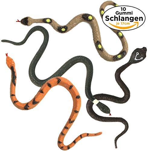 ange / Schlange 17cm - Mitgebsel, Scherzartikel, Kindergeburtstag, Dschungel Party Deko ()