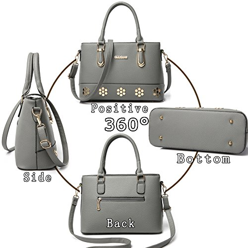 G-AVERIL, Borsa a mano donna Grigio Grey Black