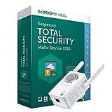 TP-Link TL-WA860RE+KL1919SXCFS-6ATT - Extensor de red WiFi (N300, antenas externas, con enchufe, puerto LAN, WPS), con Kaspersky Total Security Multi-Device 2016