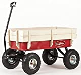 Toby All Terrain Wagon Pull Cart Red - Europe\'s best selling pull along metal retro trolley. CE Certified for child safety. child kids garden festival trolley toys truck \