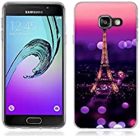 Coque Samsung Galaxy A3 (2016), Fubaoda [tour Eiffel] artistique Série Peinture Étui TPU silicone élégant et sobre pour Samsung Galaxy A3 (2016) (A310)