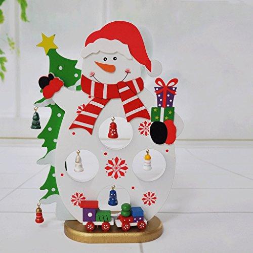 Wand-hurrikan-kerze (Hölzerne kreative Weihnachtstischdekorationen-Weihnachtsfenster-Dekoration ( Color : Snowman ))