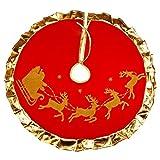 Kentop Weihnachtsbaum Rock Weihnachtsbaumdecke Weihnachtsdeko verkleidet den Baumständer Runde Tannenbaum-Unterlage Ø 90cm bietet viel Platz für die Weihnachtsgeschenke