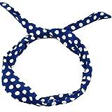 Zarlena Rockabilly Haarreif Haarband Polka Dots Hair Scarf 50's 50'er Navy / Weiss HB-5