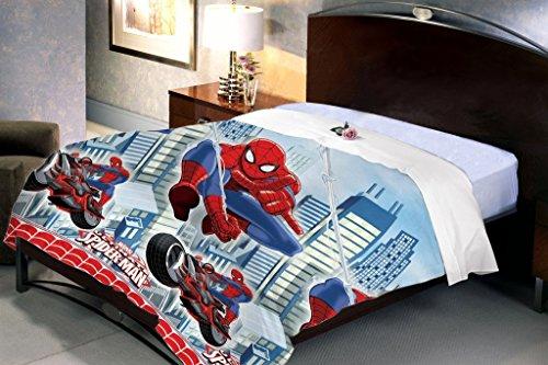 Uber Urban Spiderman Boys Single Duvet Cover cum Dohar / AC Quilt
