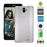 Bocoin Mate 9 Plus Unlock 6.0 inch IPS 3G Smartphone Android 5.1 MTK6580 1.3GHz Quad Core Mobile Phone Dual SIM 1GB RAM+8GB ROM Dual Camera (5.0MP+8.0MP) GPS Cellphone (Black)