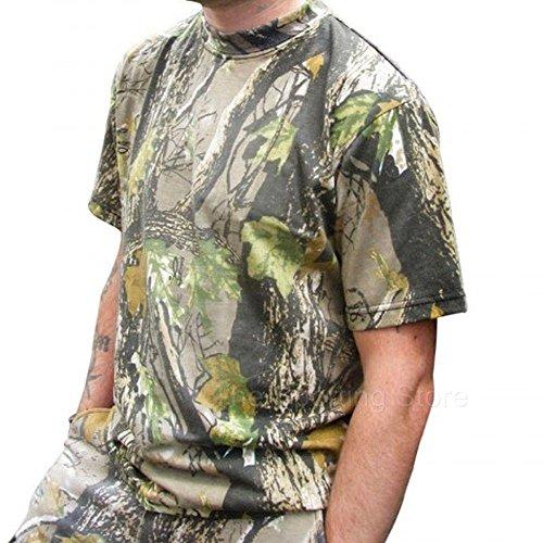 HSF Camouflage Kleidung Kaputzenhemd T-Shirt Langarm-T-Shirt Alle Größen Jagd Fischerei Schießen Kleidung - Camo, XXX-Large (Camo-jagd-kleidung)