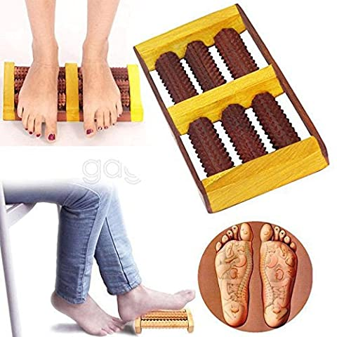 ThanksGivingGift for your Loved Ones, WOODEN 6 Rod Foot Roller Massager Wood Massage REFLEXOLOGY RELAX RELIEF SPA