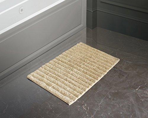 Alfombra de algodón sin alfombra felpudos alfombra de baño ultra suave super absorbentes entradas de piso alfombra de alfombra de puerta de interior al aire libre (Marrón1)