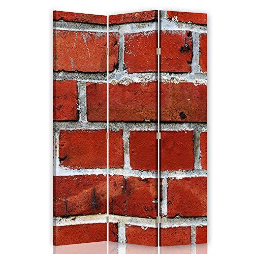 Feeby Pared divisoria Muro Ladrillos 3 Paneles Unilateral Abstracto Ro