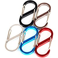 Xiton 8 mosquetón en Forma de aleación de Aluminio Llavero de Camping Gancho Clip Hebilla de Color Aleatorio
