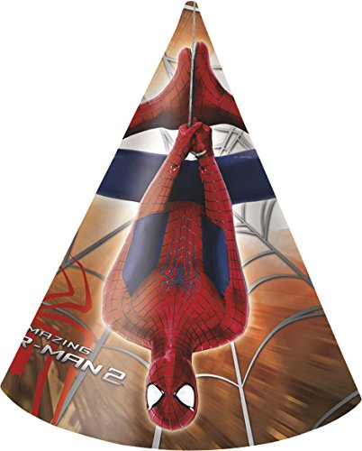 Marvel Amazing Spiderman Party Hüte, 6 Stück (Spider Man Party Supplies)