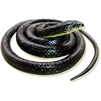 CollectiveMed Rubber Snakes Look Durable Snake Prank Toy & Gifts Snakes for Kids(Black) (Black-1)
