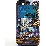 Voguecase® Pour Samsung Galaxy S7 Edge Coque, Fenêtre Etui Housse Cuir Portefeuille Case Cover (rue 08)de Gratuit stylet l'écran aléatoire universelle
