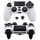 Pandaren Ultra Armure Engrenage FPS Housse Custom pour le Manette PS4 (blanc)