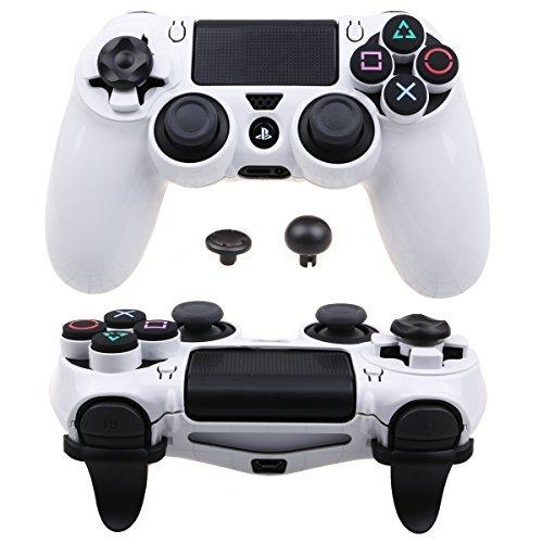 Pandaren® Ultra Rüstung Gang FPS Schale Gehäuse für PS4 Controller (Weiß) 2 Gang Faceplate