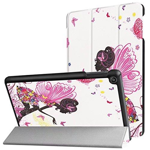 BARCO Kindle Fall, happytop 3Arm Cover für Amazon New Fire HD8, TPU 20,3cm bemalt Displayschutzfolie S mädchen (Mädchen Kindle Fire Fällen)