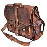 """Jaald Mens Genuine Leather Large Laptop Bag Messanger Bag for Upto 15.6"""" Laptop bag"""