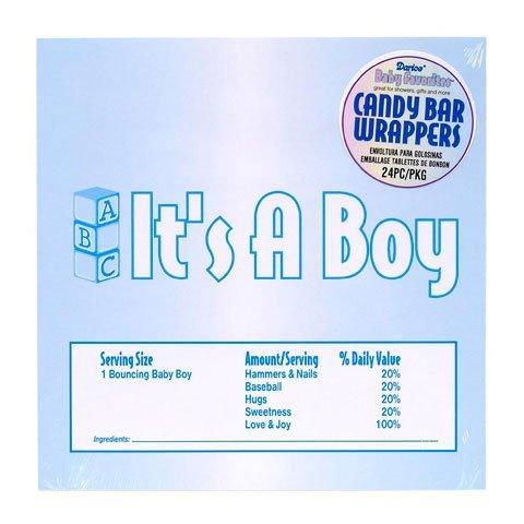 Bulk Buy: Darice DIY Crafts Candy Bar Wrapper It's a Boy Blue 24 pieces 1405-68 by Darice Bulk Buy