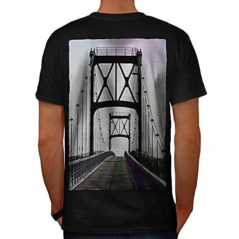 Pont Urbain Route Mode rivière Structure Homme S T-shirt le dos | Wellcoda