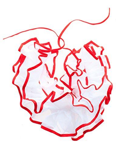 Halskrause weiß/rot keine Größe