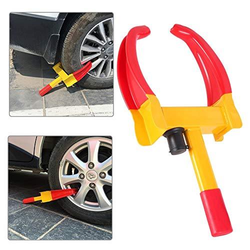 Praktische Auto Rad Reifenschloss Clamp Parken Legale Abschleppen Auto Bootsanhänger Diebstahl Reifen Clamp Lock Reifenschloss (gelb & rot)
