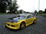 YELLOW BLACK COUPE 4WD DRIFT RADIO REMOTE CONTROL CAR 1 10 FREE TYRES NEW RAPID FAST SPEED by Action Ford Ltd