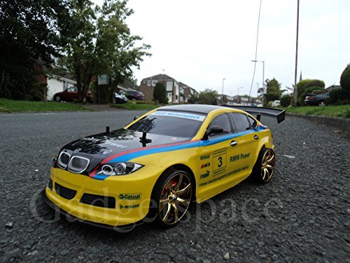 YELLOW BLACK COUPE 4WD DRIFT RADIO REMOTE CONTROL CAR 1 10 FREE TYRES NEW RAPID FAST SPEED by Action Ford Ltd*