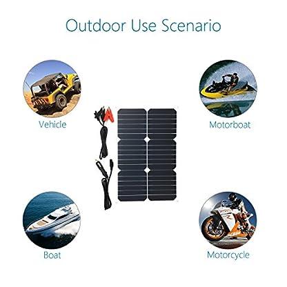 513ZaJf9FVL. SS416  - Giaride Cargador Solar Sunpower Panel Módulo Solar de 12V Baterías Cargador de Coche Portátil Fotovoltaico para Coches, Caravana, Moto, Bote, Barco