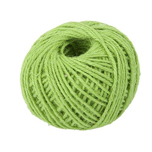 Drawihi DIY Bastelschnur Jute Seil Gartenschnur Hanf Seil für Crafts Arts und Gardening Dekoration (Hellgrün) 50m*2mm