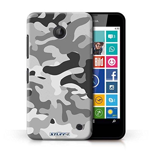 Kobalt® Imprimé Etui / Coque pour Nokia Lumia 635 / Blanc 2 conception / Série Armée/Camouflage Blanc 1