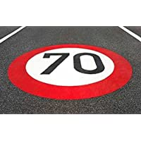 Centrecoat Thermoplastic Speed Roundels - White 70mph 7600 x 1500