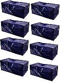 Earthwise Heavy Duty Extra Large Aufbewahrungstasche beweglichen Tote Rucksack Tragegriffe–Kompatibel mit IKEA FRAKTA–Hand Carts Boxen Bin (8Stück)