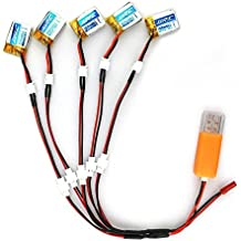 JJRC Battery Set 5pcs 3.7V 150MAH Li-po Battery + 5 In 1 USB Charger Charging Cable for JJRC H36 Mini Drone (H36-0002)