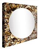 ccretroiluminados Muscheln-Badezimmerspiegel beleuchtet, Acryl, mehrfarbig, 80x 80x 5.3cm