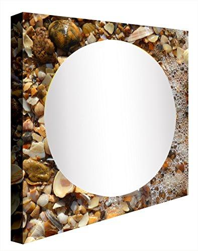 Ccretroiluminados seashells specchio da bagno illuminato, acrilico, multicolore, 60x 60x 5.3cm
