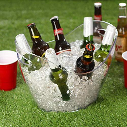 Kunststoff Getränke, die Sie klar-Großes Party Badewanne Getränkekühler mit Griffen
