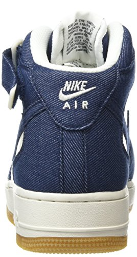 Nike Air Force 1 Mid '07, Chaussures de Sport Homme Multicolore (Obsidian/Obsdn/Sl/Gm Lght Brwn)