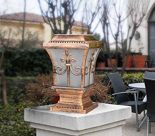 Whh parete pilastro lampada lampade LED per esterni/solare/casa/giardino Gates Garden lampada da parete/lampada solare/illuminazione fari bronze