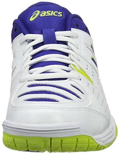 Asics Herren Gel-Dedicate 4 Tennisschuhe Mehrfarbig (White/Asics Blue/Lime)
