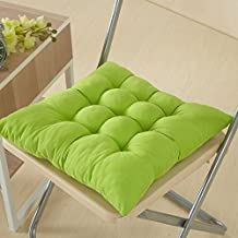WJiXin Cojín de asiento para silla de comedor al aire libre, cojín para decoración de muebles de jardín (verde)
