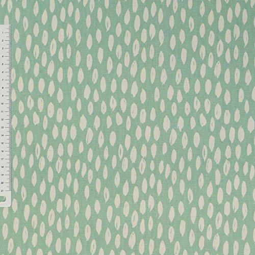 Dekostoff Bayside Honeydew mint weiß 137cm