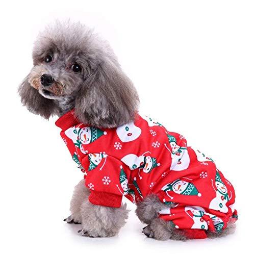 NACOCO Haustierkostüm Schneemann mit Schneeflocke, süße Kleidung für Hunde und Katzen, S