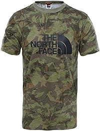 The North Face S/S Easy, Camiseta para hombre, Hombre, S/S Easy, Green Camo, XS
