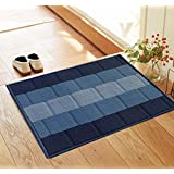 Status™ Floor Door Mat in Home Kitchen Living Area Bathroom Office Entrance with Anti Slip Backing (38x 58 cm, Blue) - Pack of 1
