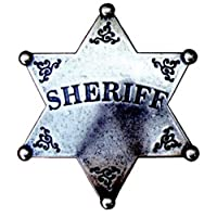 Denix Grey Badge Sheriff Star Cowboy Western Sheriff Badge